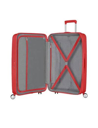 Extra large luggage American Tourister SoundBox 77 cm with 4 wheels