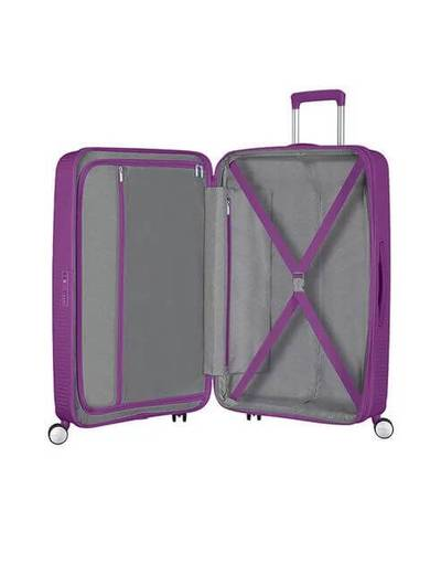 Medium suitcase American Tourister SoundBox 67 cm with 4 (double) wheels