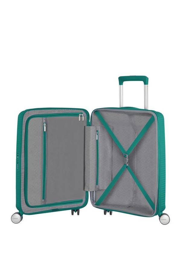 Walizki kabinowe American Tourister SoundBox Forest Green