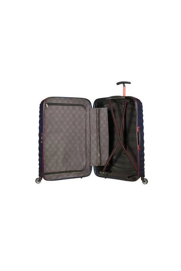 Walizki duże > 70 cm Samsonite Lite-Shock Sport Niebieski Nautical Blue/Red