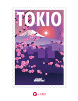 Sticker evertourist STAMPS Tokio