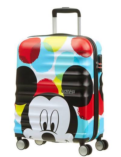 Suitcase American Tourister WaveBreaker Disney Mickey 55 cm with 4 wheels