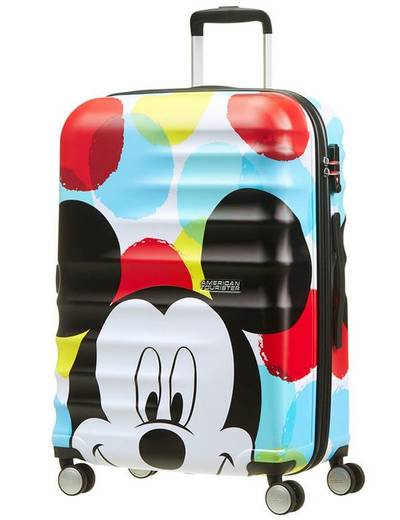 Suitcase American Tourister WaveBreaker Disney Mickey 67 cm with 4 wheels