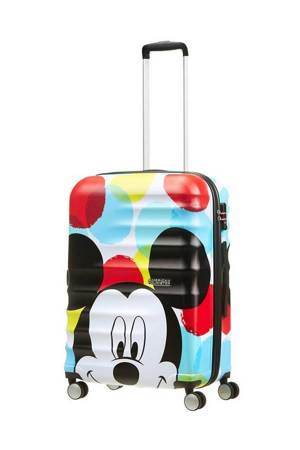 Walizki dla dzieci American Tourister WaveBreaker Disney Multikolor Mickey Close-Up