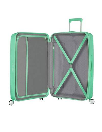 Extra large luggage American Tourister SoundBox 77 cm with 4 (double) wheels