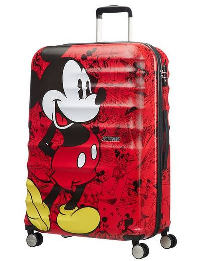 Extra large luggage American Tourister WaveBreaker Disney 77 cm with 4 wheels