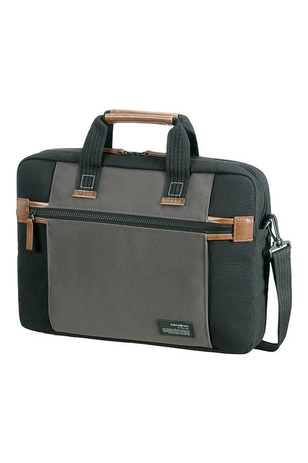 laptoptasche samsonite 15 6 schwarz grau evertourist. Black Bedroom Furniture Sets. Home Design Ideas