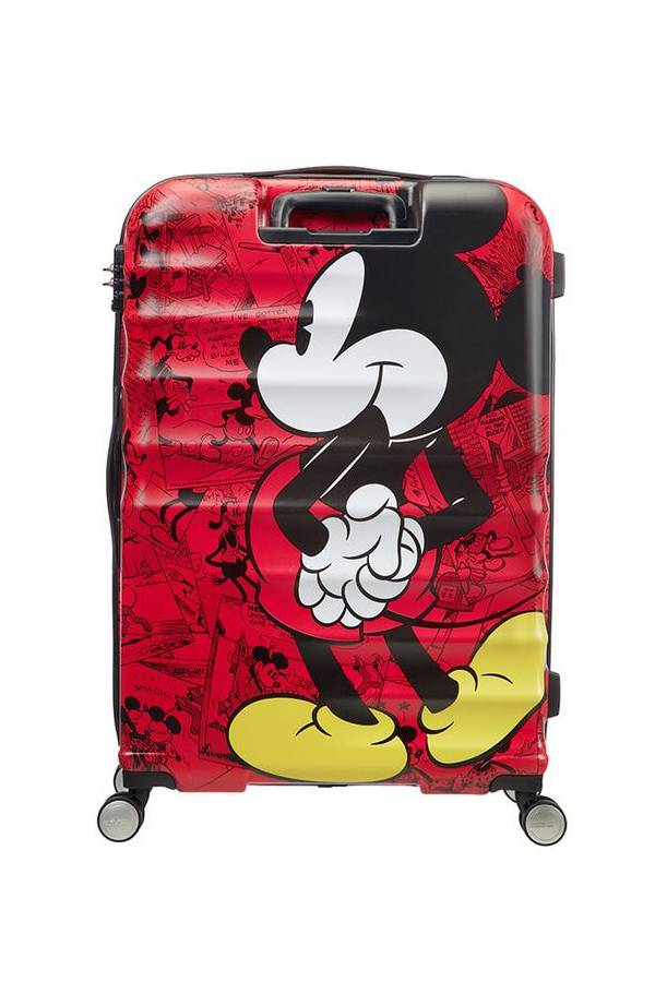 Walizki duże > 70 cm American Tourister WaveBreaker Disney Multikolor Mickey Comics Red