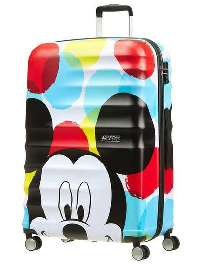 Suitcase American Tourister WaveBreaker Disney Mickey 77 cm with 4 wheels