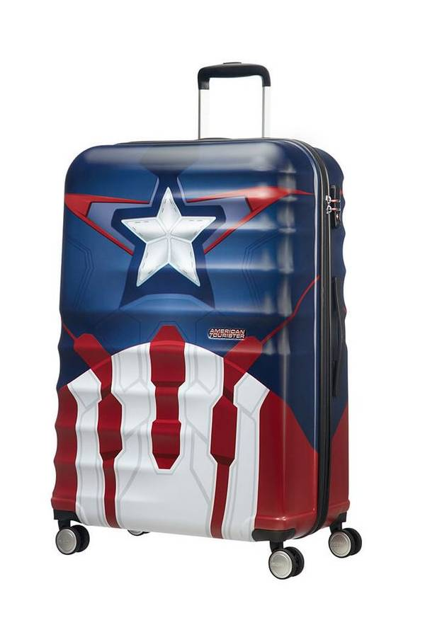 Walizki duże > 70 cm American Tourister WaveBreaker Marvel Multikolor Captain America Close-Up